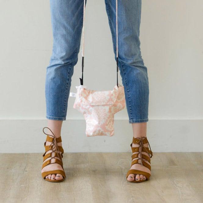 Image of DSLR Camera Bag Travel Camera Coat | Water Repellent Pink Damask Great Gift Idea 2018