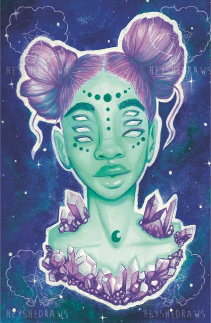 """Image of """"SPACE BUNS"""" Print (Matte or Holo)"""