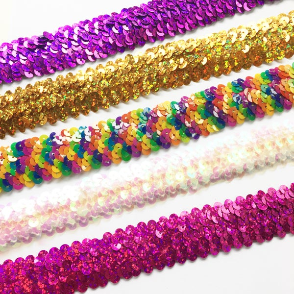 Image of Sequin Chokers - rainbow tones