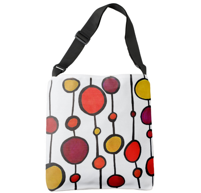 Image of Cross Body Bag, Hot Colors Strings of Circles