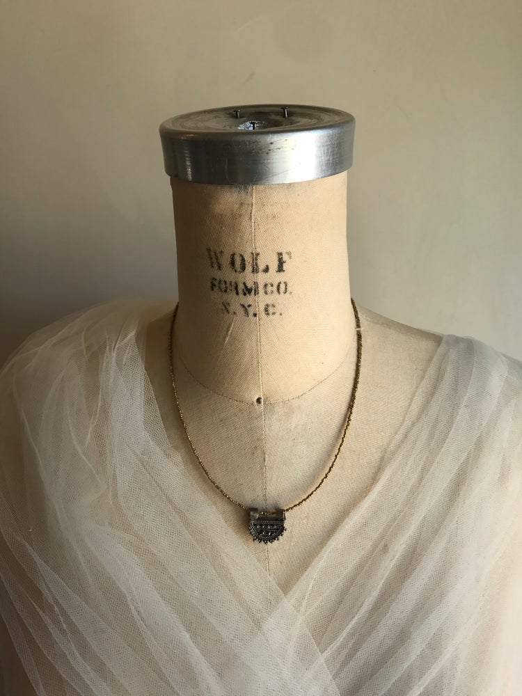 Image of Simple African Spacer with Prayer Bead Charm