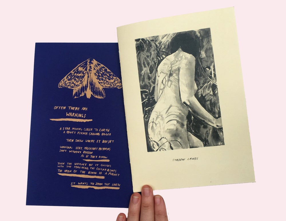 Image of Shadow Lands A5 mini zine + bonus riso poem print