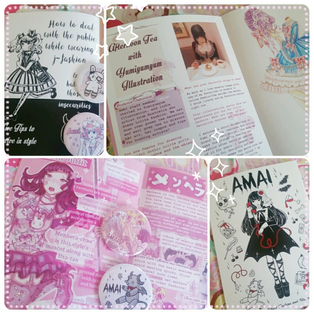 Image of AMAI Japanese Fashion Zine & Mini Artbook (A5)