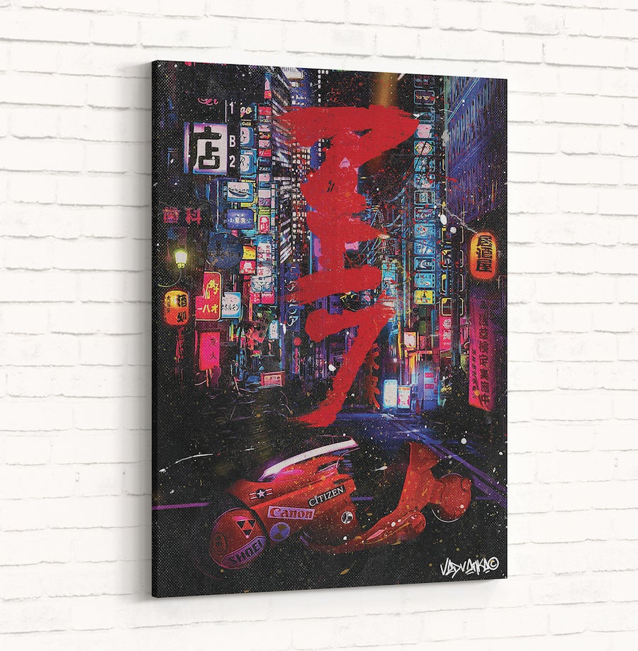 Image of Original Canvas : Cyberpunk #A [アキラ]