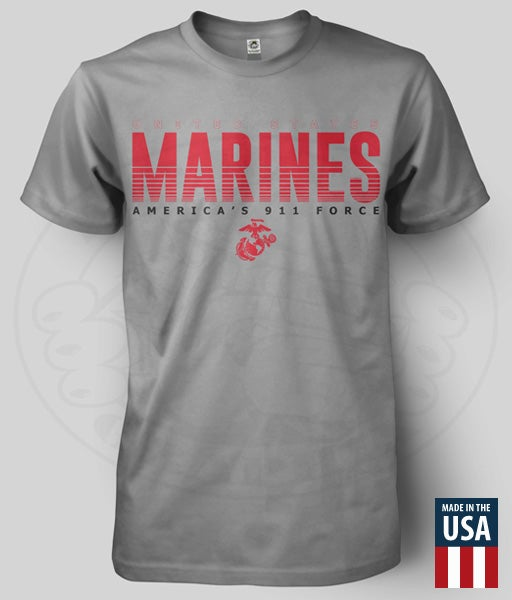 Image of US MARINES - AMERICA'S 911 FORCE T-SHIRT