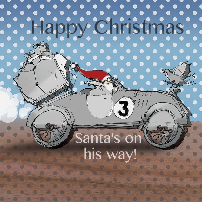 Image of Santa's Bicycle - Car journey