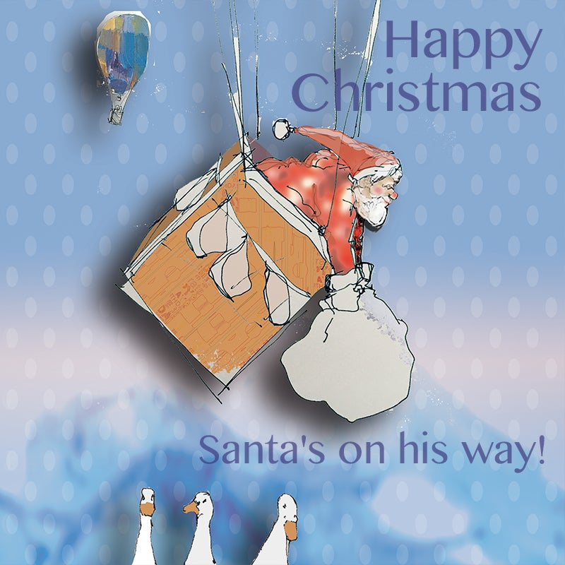 Image of Santa's Bicycle - Balloon journey