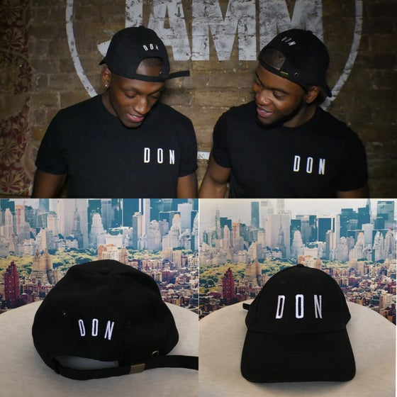 Image of DON Black Twill Cap