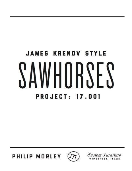 Image of Plans - James Krenov Style Sawhorse