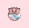 8bit Egg - Glitter