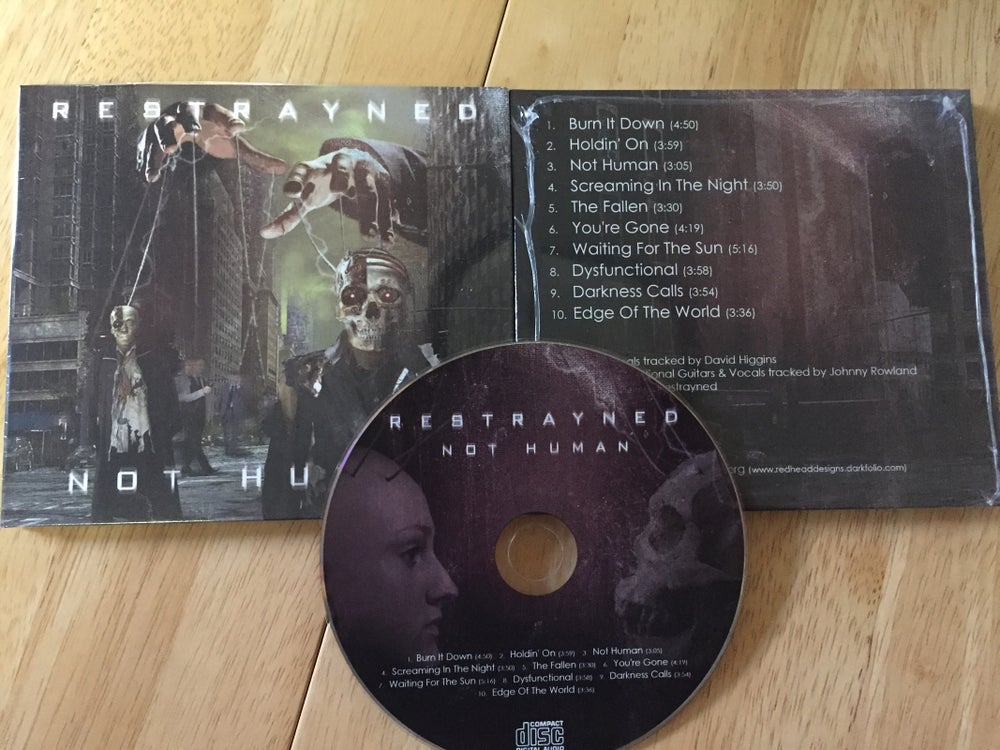 "Image of Restrayned - ""Not Human"" CD"