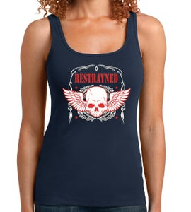 Image of Women's Tank Top - Restrayned Skull and Wings