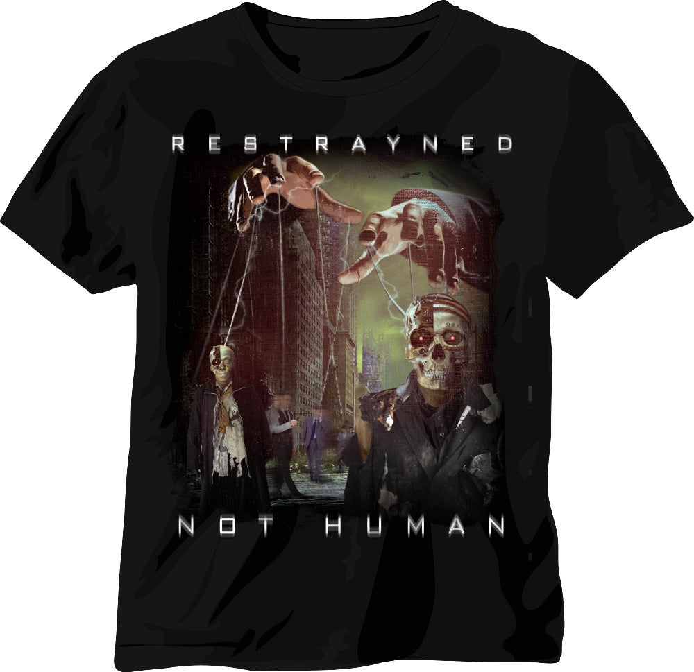 Image of Men's T-Shirt - Restrayned Not Human Album Art