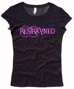 Image of Women's Baby Doll Tee - Restrayned Logo