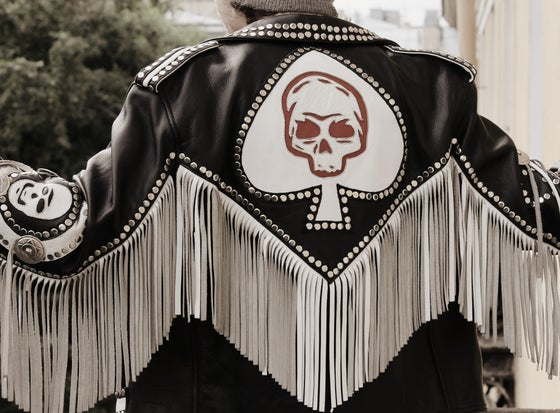 Image of Ace of Spades Leather Jacket