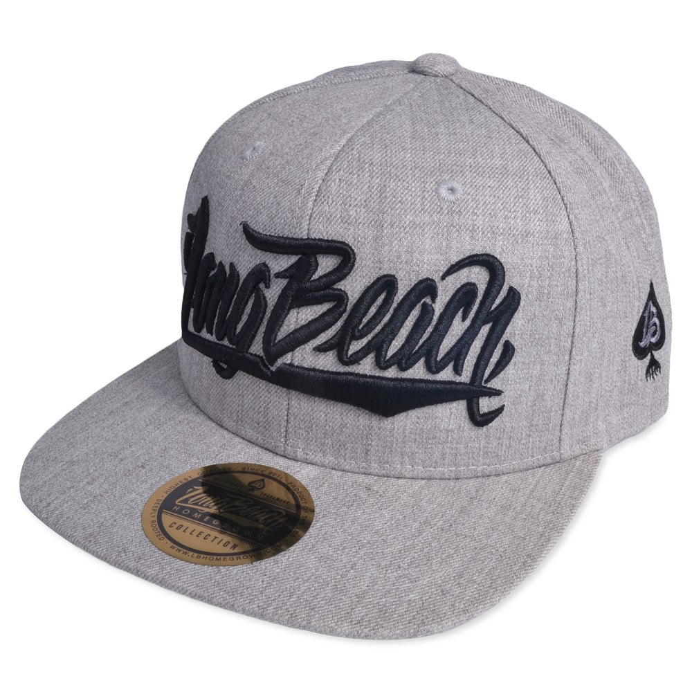 Image of LONGBEACH SCRIPT HEATHER SNAPBACK