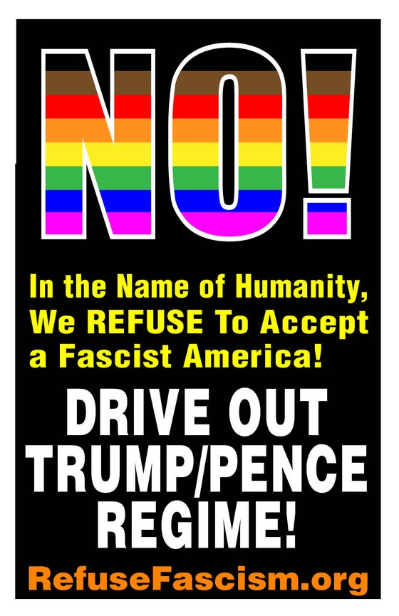 "Image of Drive Out Trump/Pence Regime! 19"" x 13"" Poster Pack"