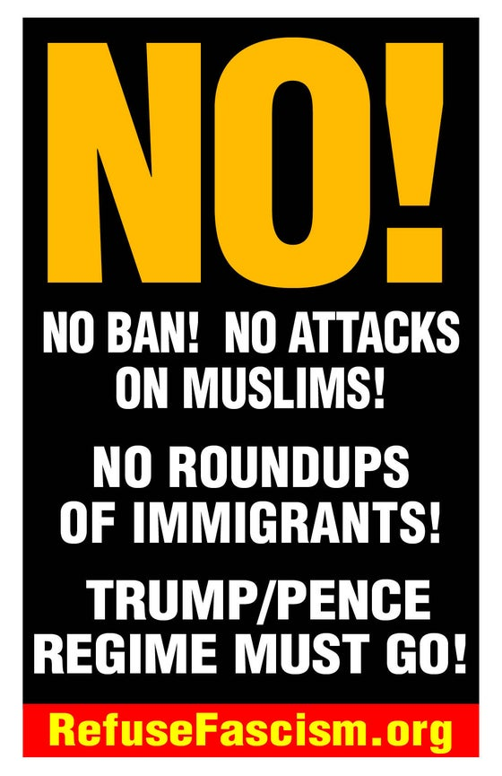 "Image of NO! 19"" x 13"" Muslim Ban Poster Pack"
