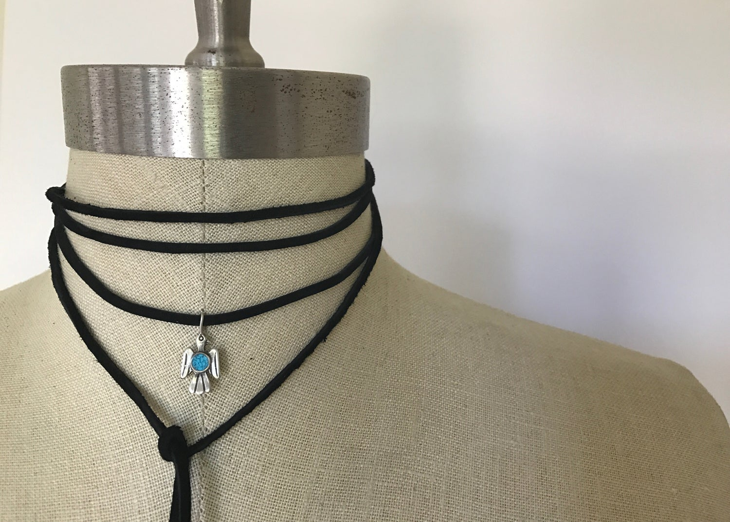 Image of Wrap Choker Sterling Silver Bird