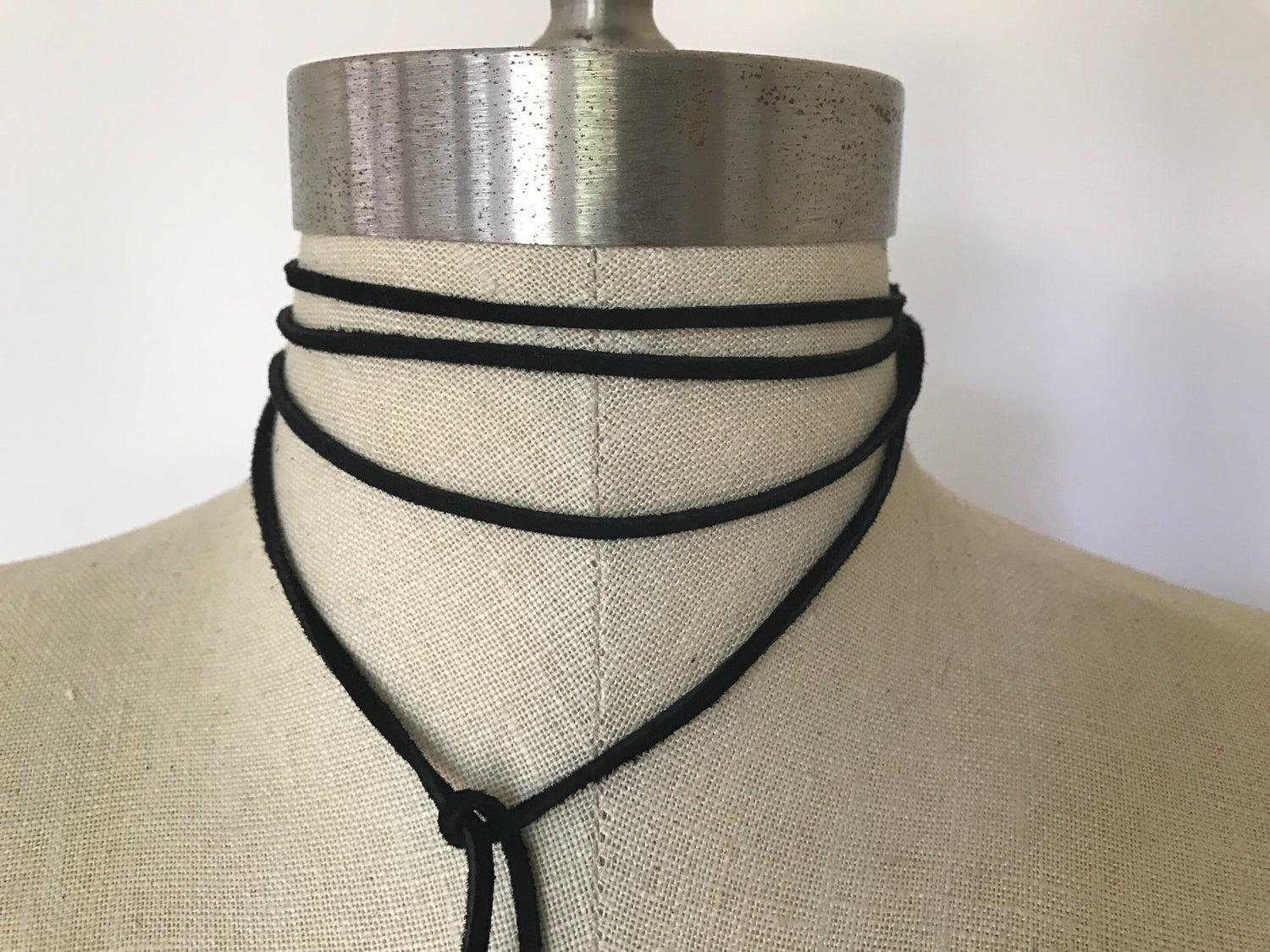 Image of Black Leather Wrap Choker