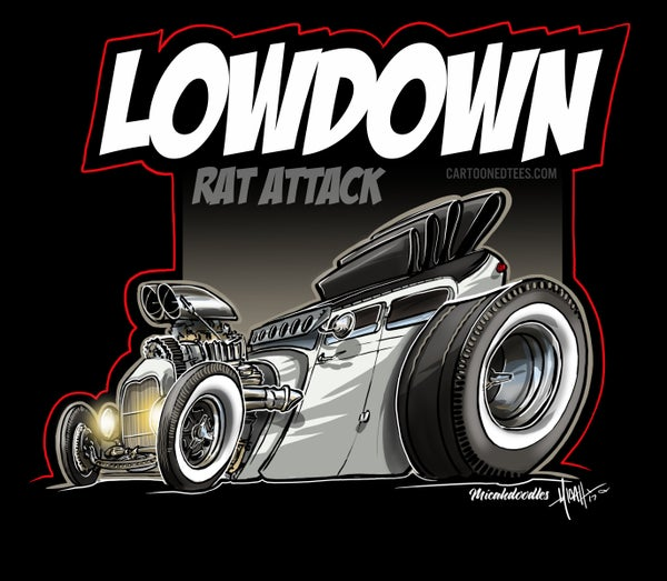 Image of LOWDOWN RAT ATTACK MANCAVE BANNER