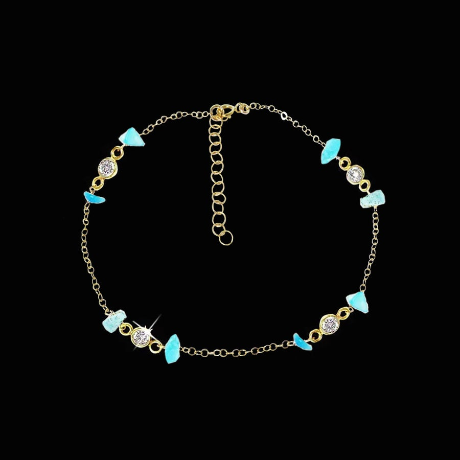 Image of Turquoise & Topaz Anklet