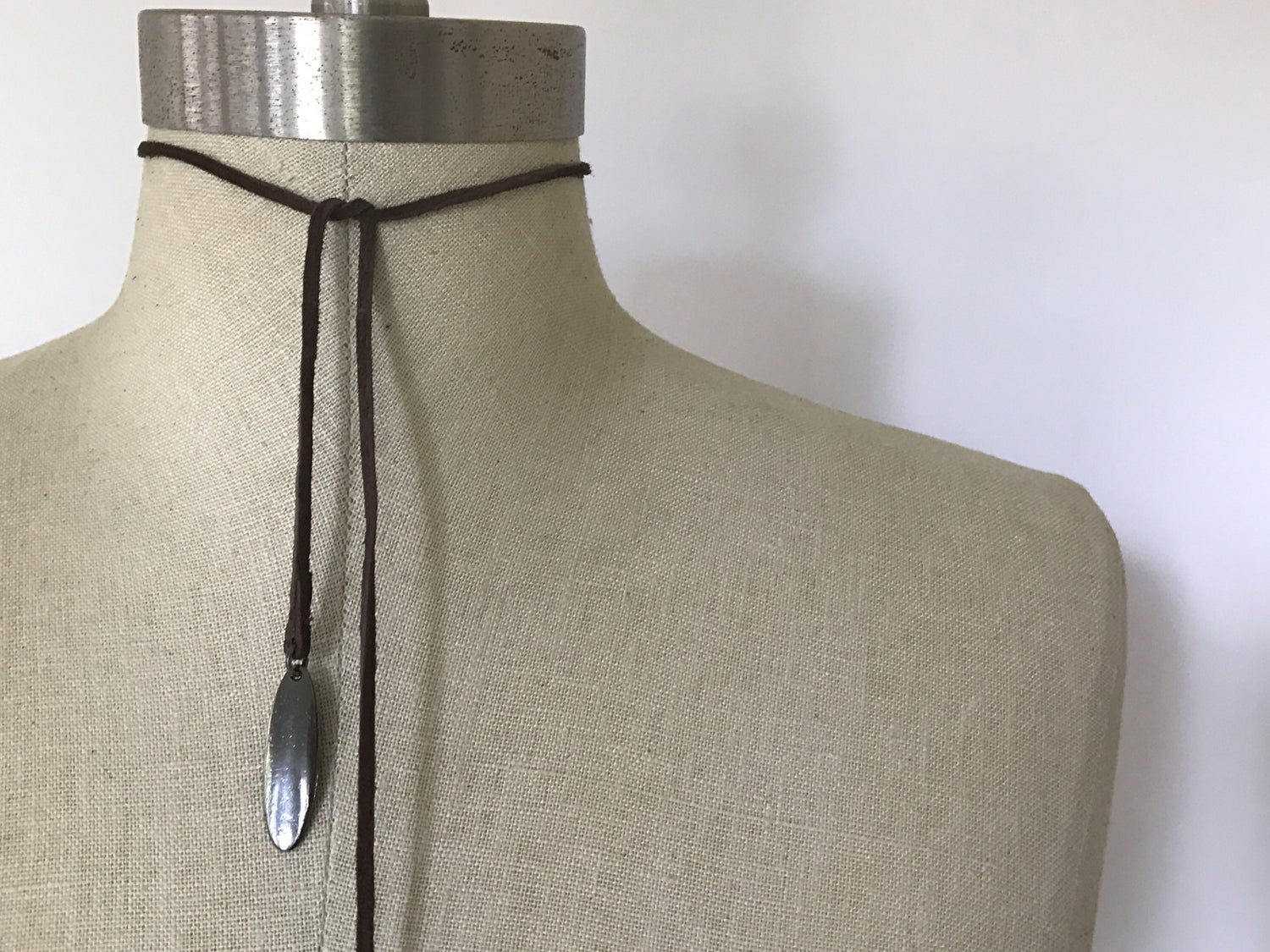 Image of Gunmetal Detail Wrap Choker
