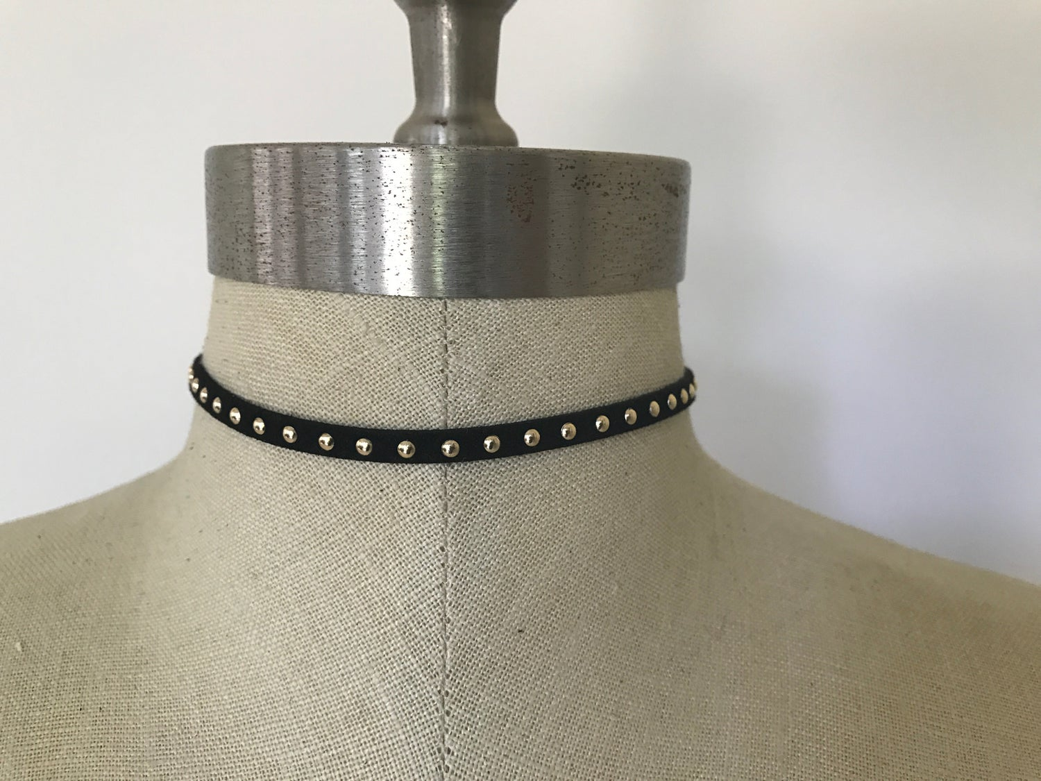 Image of Black Gold Studded Choker
