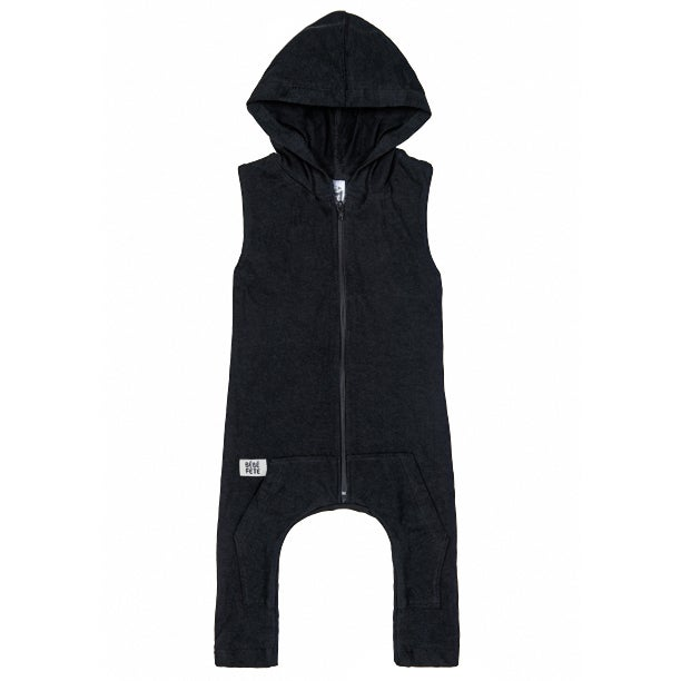 "Image of ""Born Famous"" Hoodie Romper"