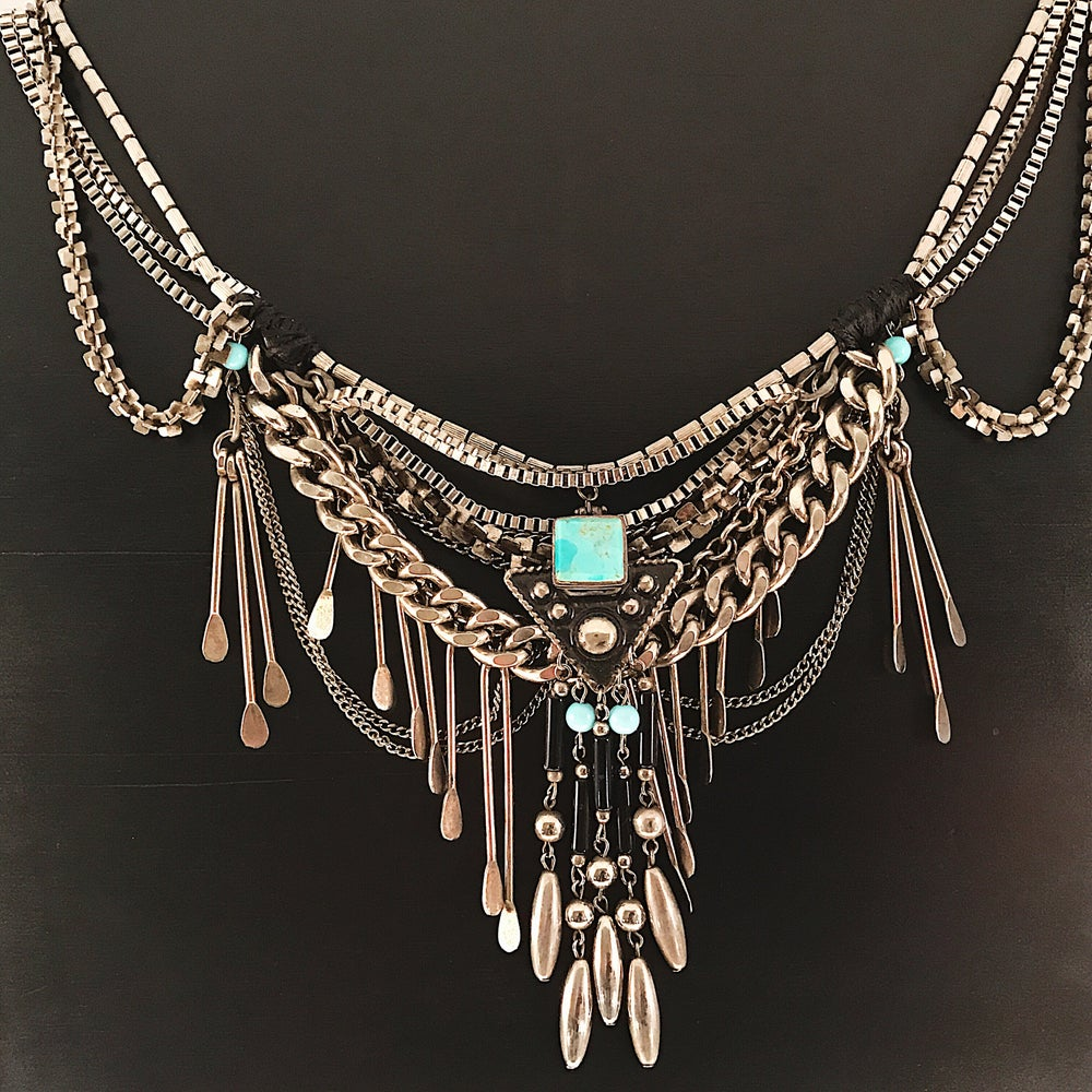 Image of Heritage Silver Statement Necklace