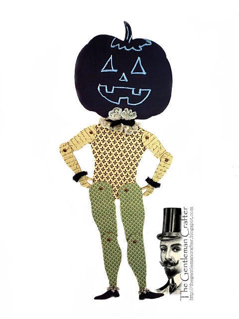 Image of Halloween Chalkboard Pumpkin Puppet Kit