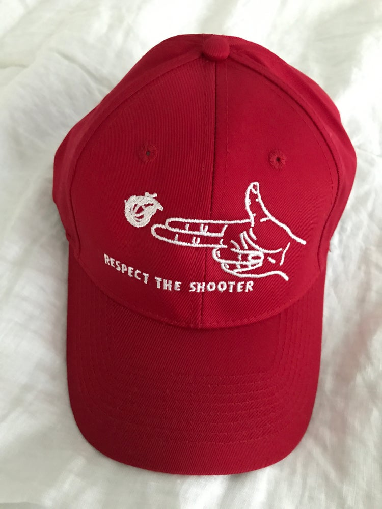 "Image of Respect The Shooter ""Dad Hat""-Red"