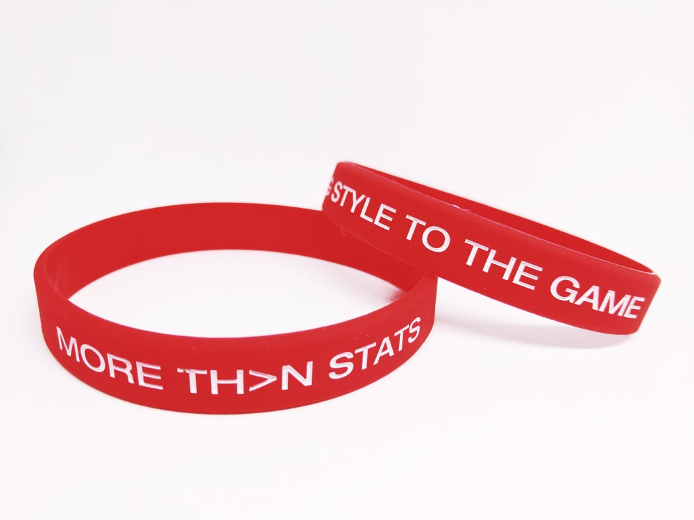 "Image of MTS ""I Bring Style To The Game"" Silicone Wristband (Red)"