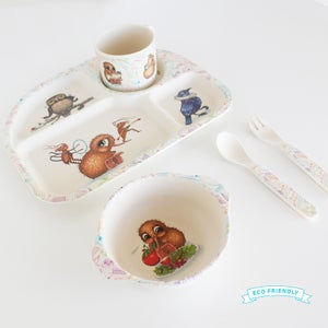 Bamboo Fibre Kids Dinnerware Set