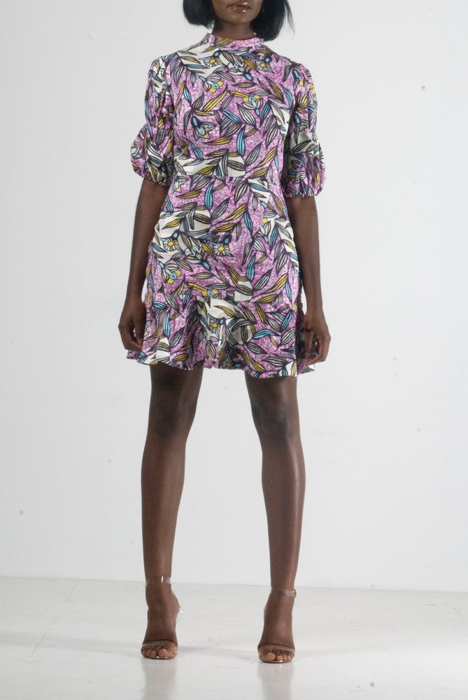 Image of Les Fleurs Violettes dress