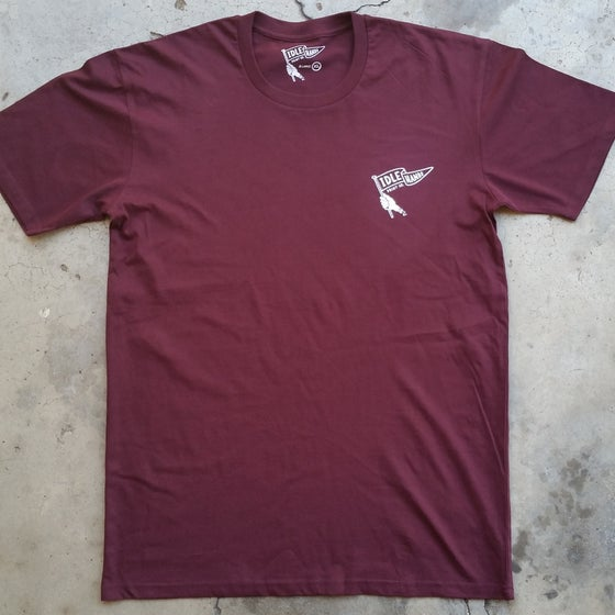 Image of Flag Logo T-Shirt (Maroon)