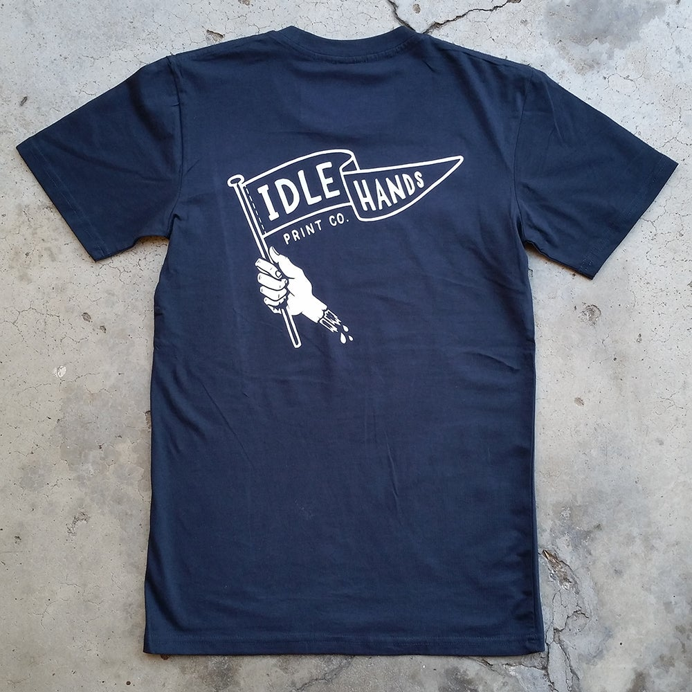 Image of Flag Logo T-Shirt (Navy)