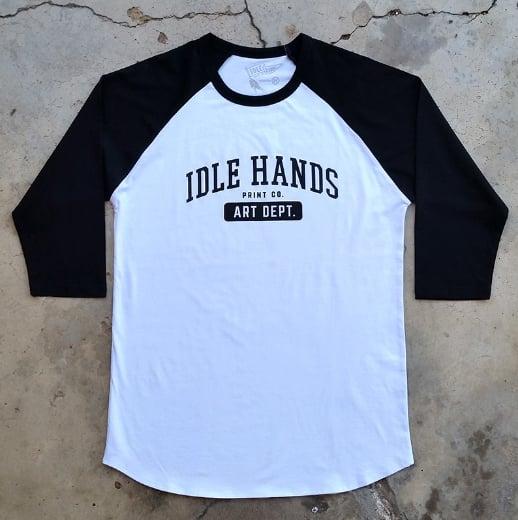 Image of Idle Hands Art Dept. Baseball Tee
