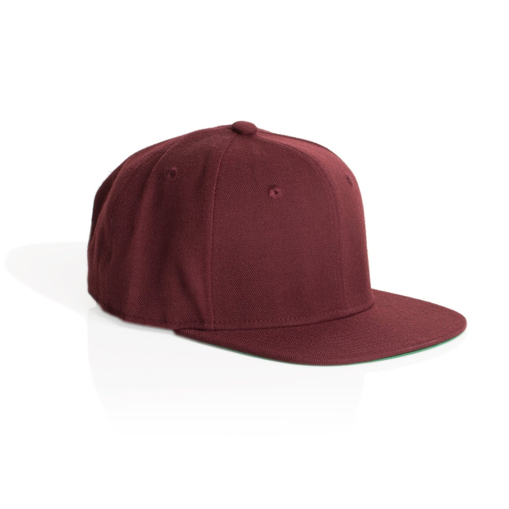 Image of TRIM SNAPBACK CAP -BURGUNDY