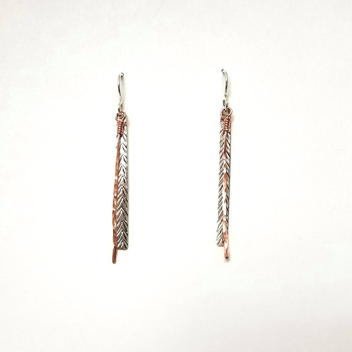 Image of Reflections of white pine earrings long