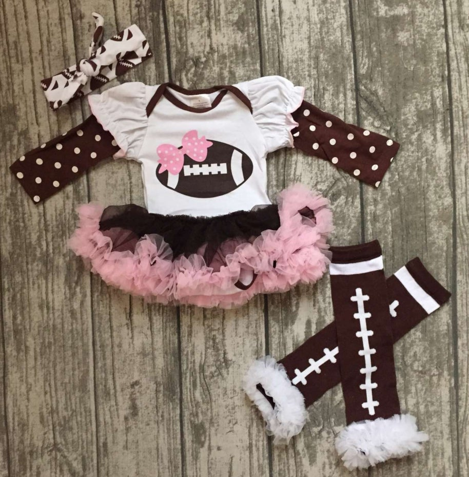 Image of Football tutu onesie