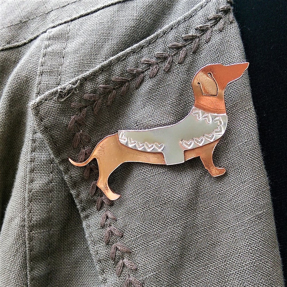 Image of Dachshund Brooch
