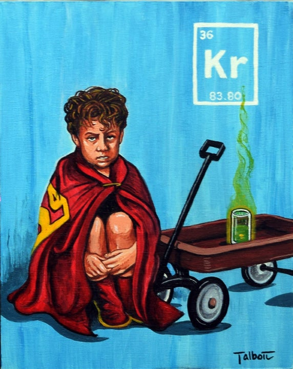 "Image of ""The Kryptonite Drinker"" signed canvas print"