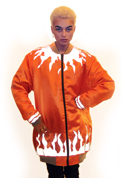 Image of SOLAR FLARE REVERSIBLE JACKET ORANGE