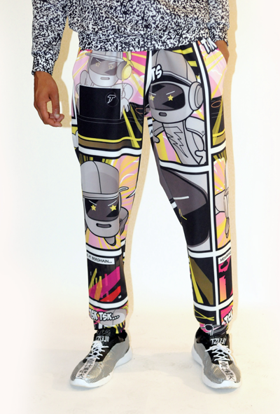 Image of CARTOON PRINT SCUBA SWEATPANTS