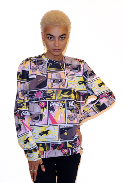 Image of CARTOON PRINT SCUBA SWEATER