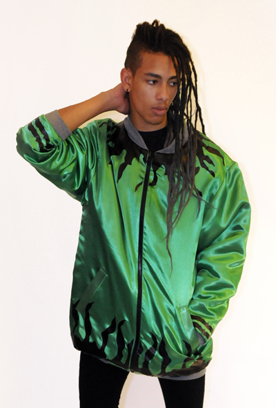 Image of SOLAR FLARE REVERSIBLE JACKET GREEN