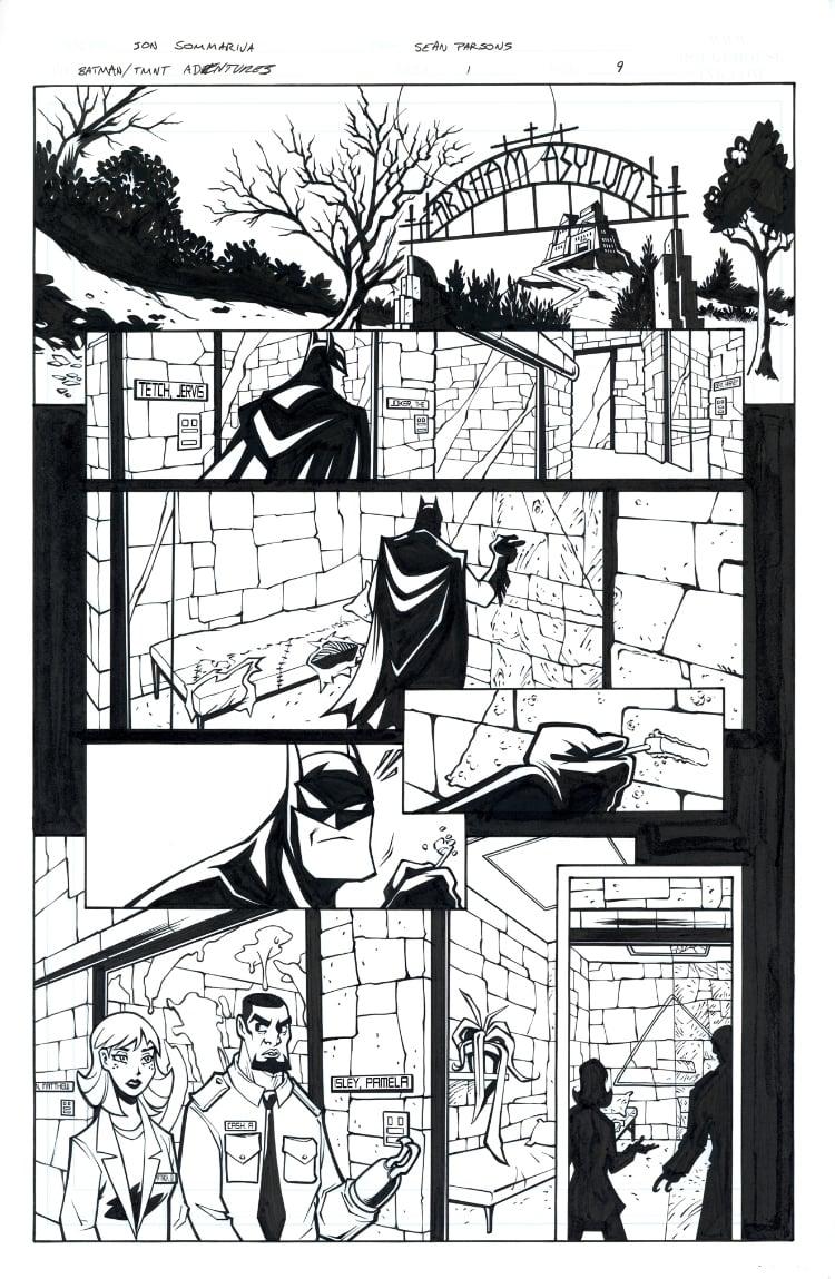 Image of Batman TMNT Adventures 1 Page 09