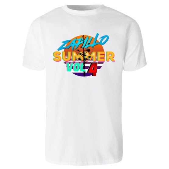 Image of Zapillo Summer Vol 4 - Camiseta Blanca Unisex