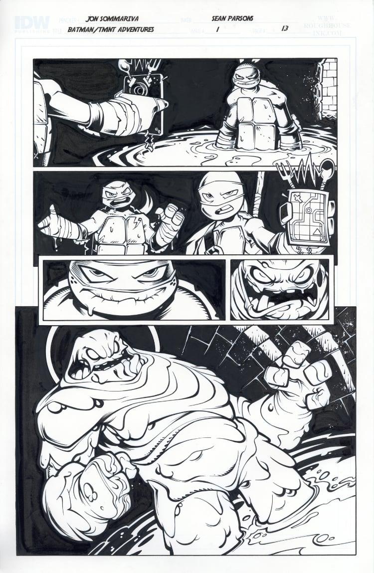 Image of Batman TMNT Adventures 1 Page 13